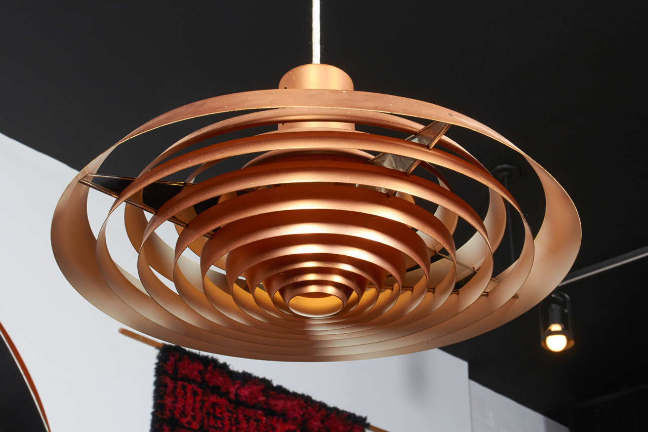 Pavillion Pendant Lamp in Copper by Poul Henningsen 3