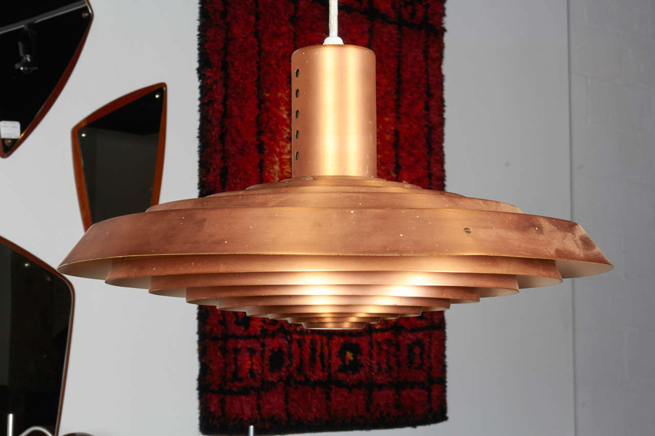 Pavillion Pendant Lamp in Copper by Poul Henningsen 4