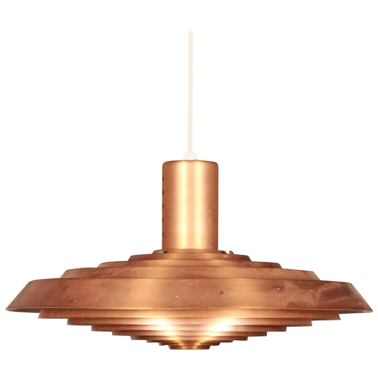 Pavillion Pendant Lamp in Copper by Poul Henningsen 1