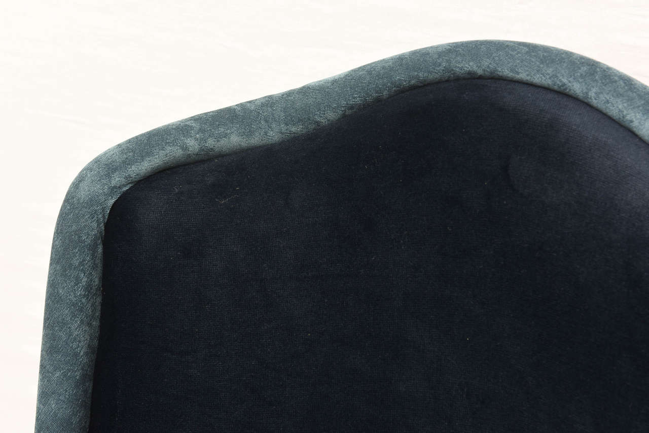 Mid-Century Modern Two-Toned High-Back Adrian Pearsall Swivel Chair in Velvet, 1960s, USA For Sale