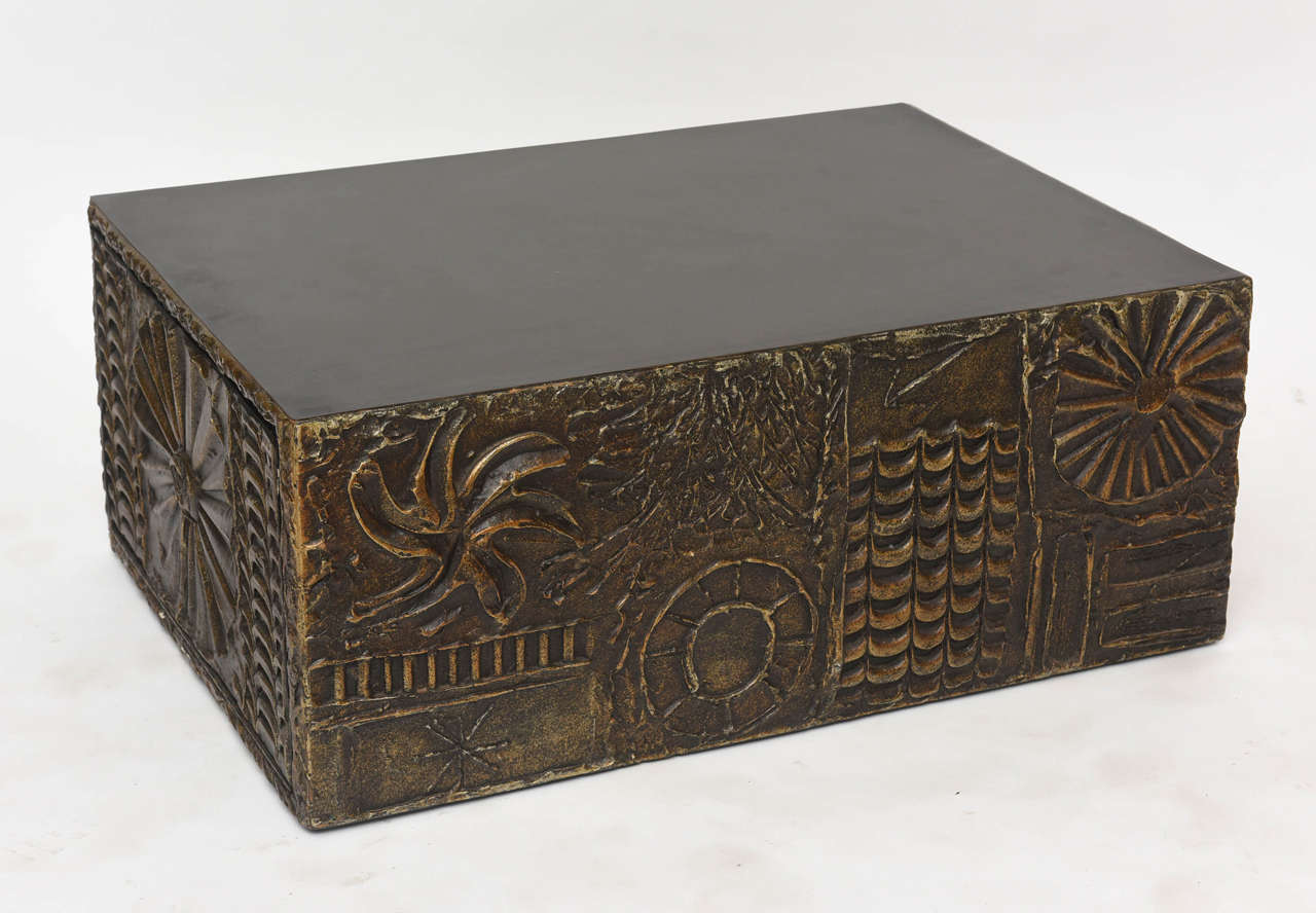 American Modern Custom Brutalist Coffee Table By Adrian Pearsall For Sale At 1stdibs