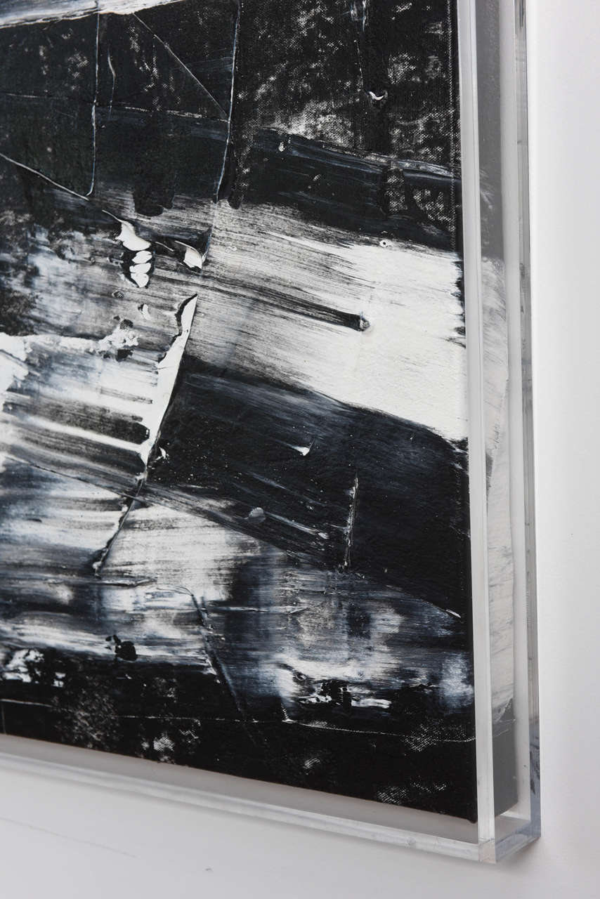 Renato Freitas Original Oil on Canvas, 2015, Black and White 2 For Sale 1