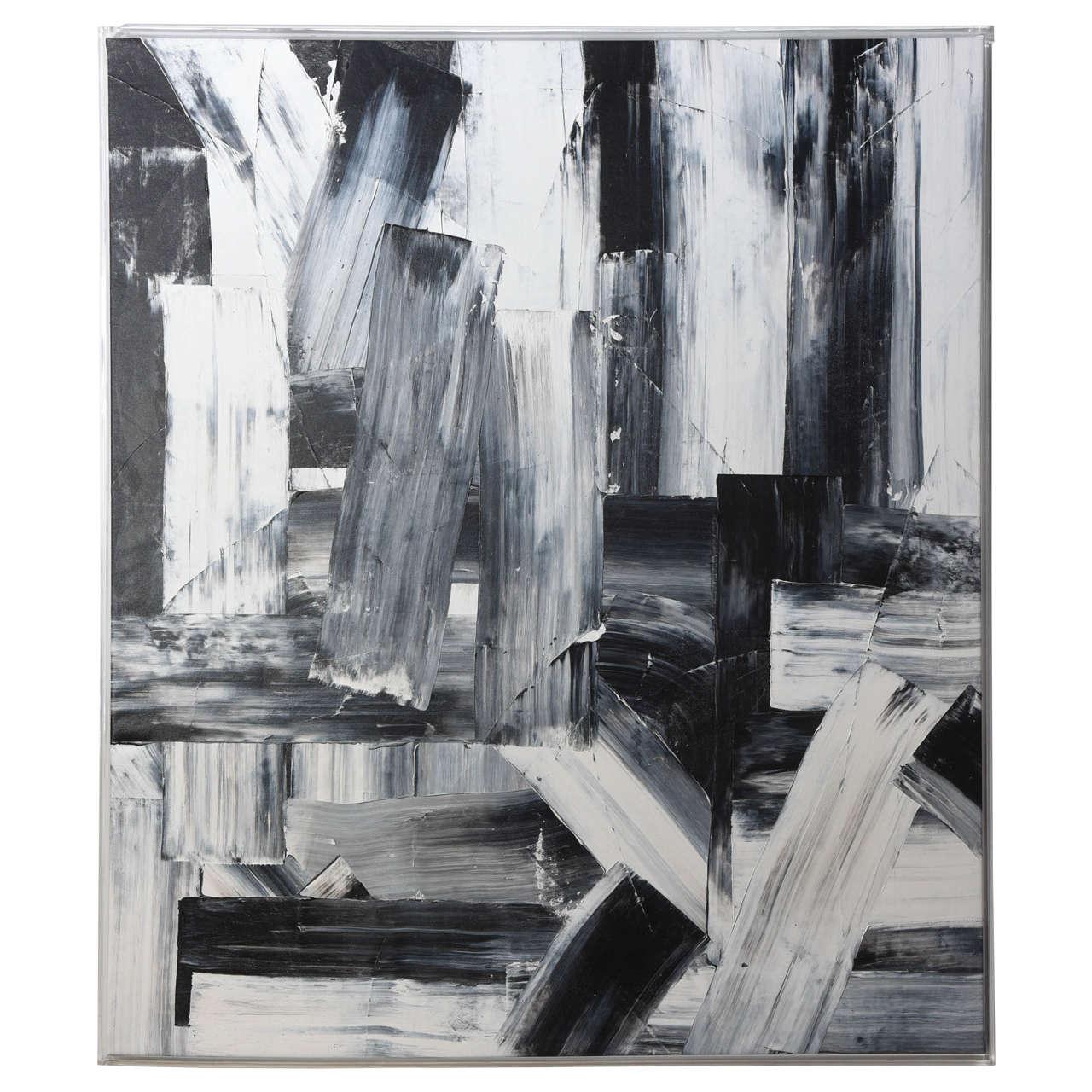 An Abstract Expressionist Oil on Canvas, Renato Freitas