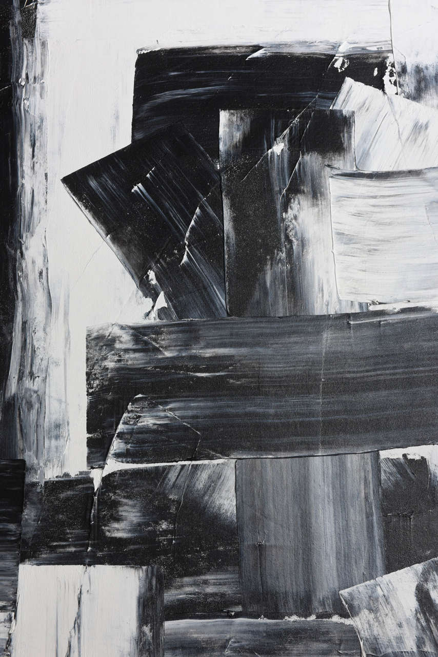 Contemporary Renato Freitas Original Oil on Canvas, 2015, Black and White 3 For Sale