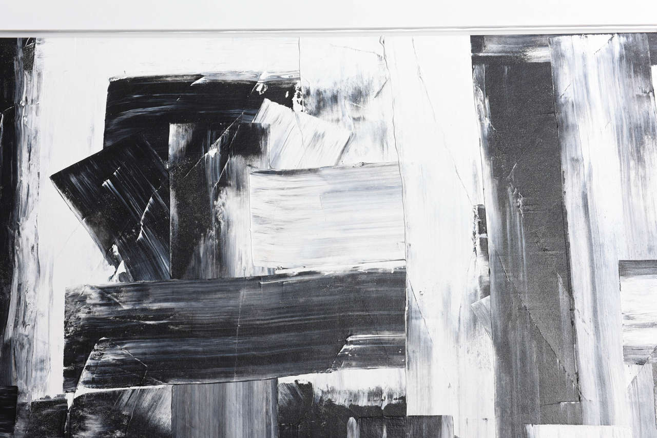 Renato Freitas Original Oil on Canvas, 2015, Black and White 3 For Sale 1