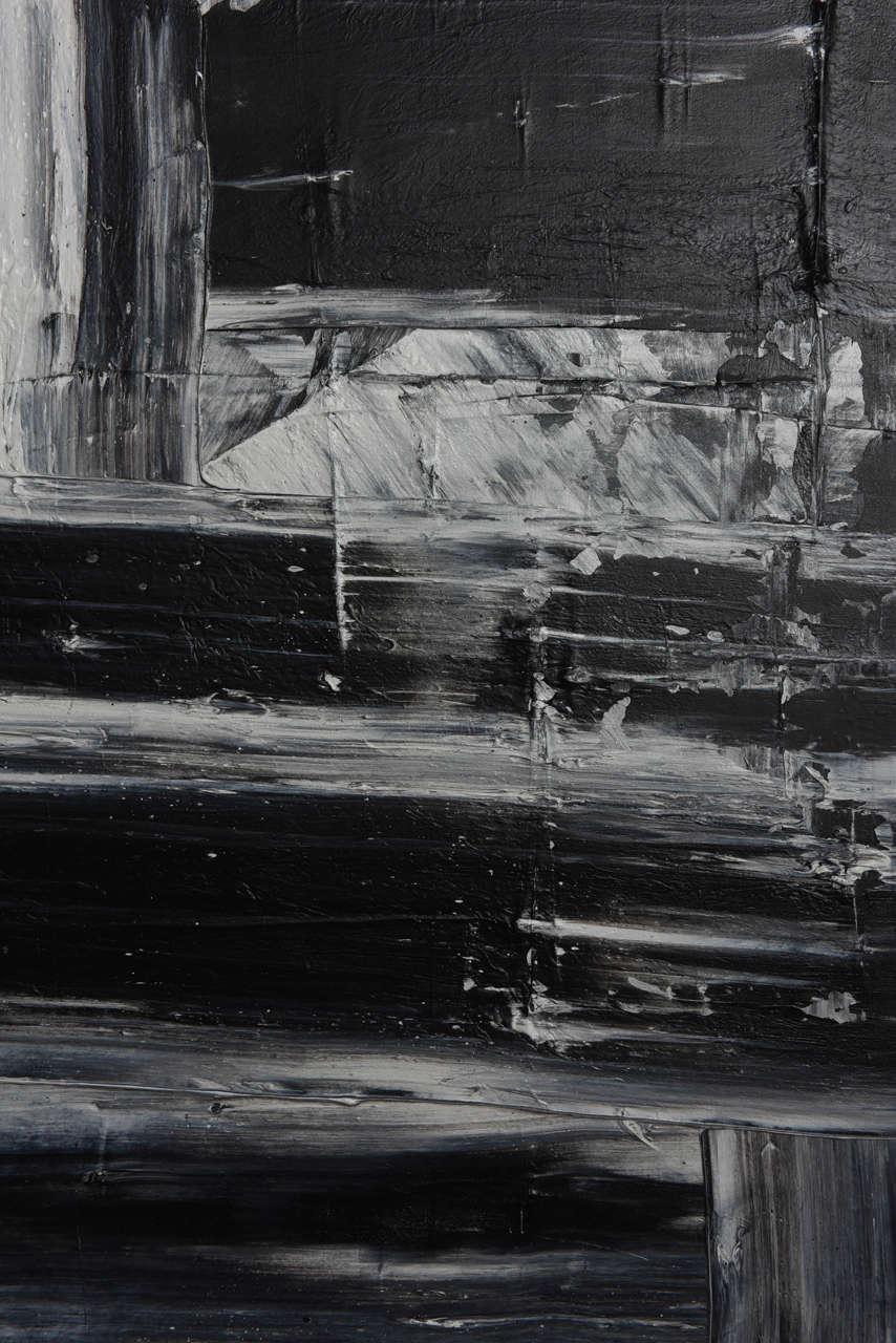 American Renato Freitas Original Oil on Canvas, 2015, Black and White 1 For Sale