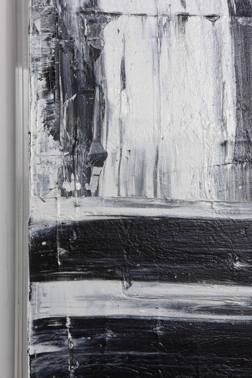 Contemporary Renato Freitas Original Oil on Canvas, 2015, Black and White 1 For Sale
