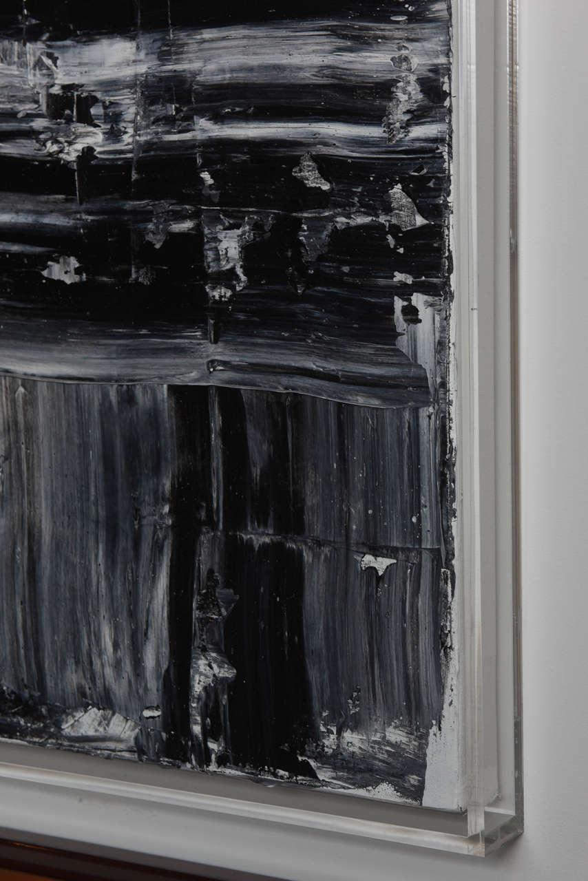 Renato Freitas Original Oil on Canvas, 2015, Black and White 1 For Sale 1