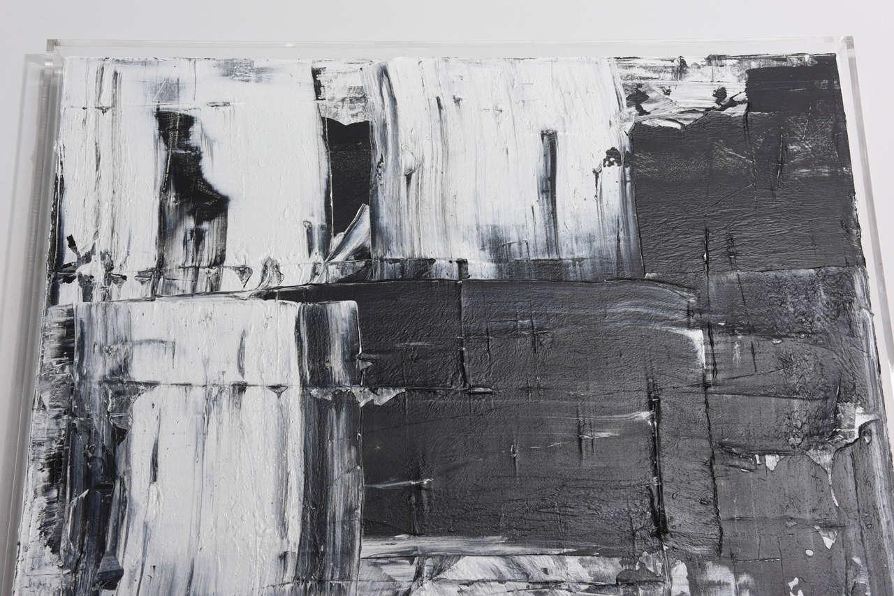 Renato Freitas Original Oil on Canvas, 2015, Black and White 1 For Sale 2