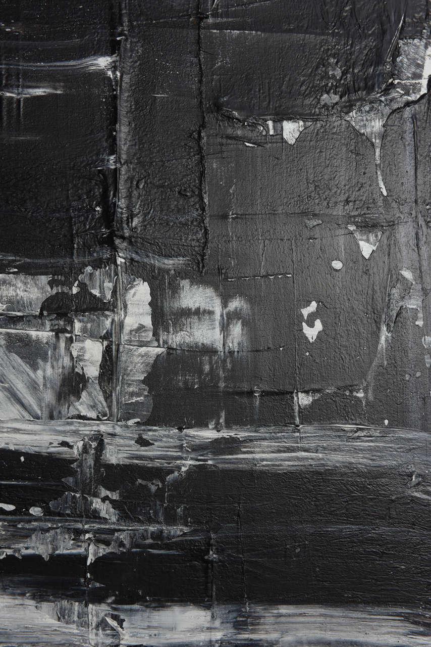 Renato Freitas Original Oil on Canvas, 2015, Black and White 1 For Sale 3