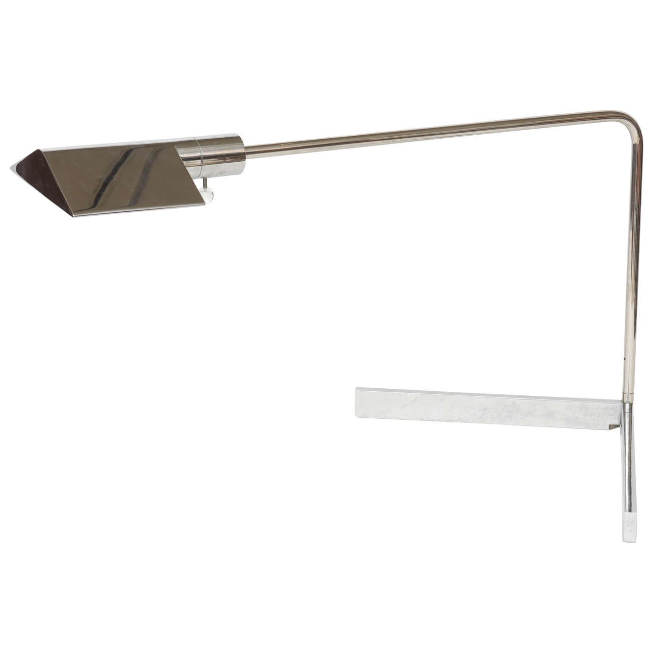 Early Cedric Hartman American Modern Polished Chrome Desk Lamp