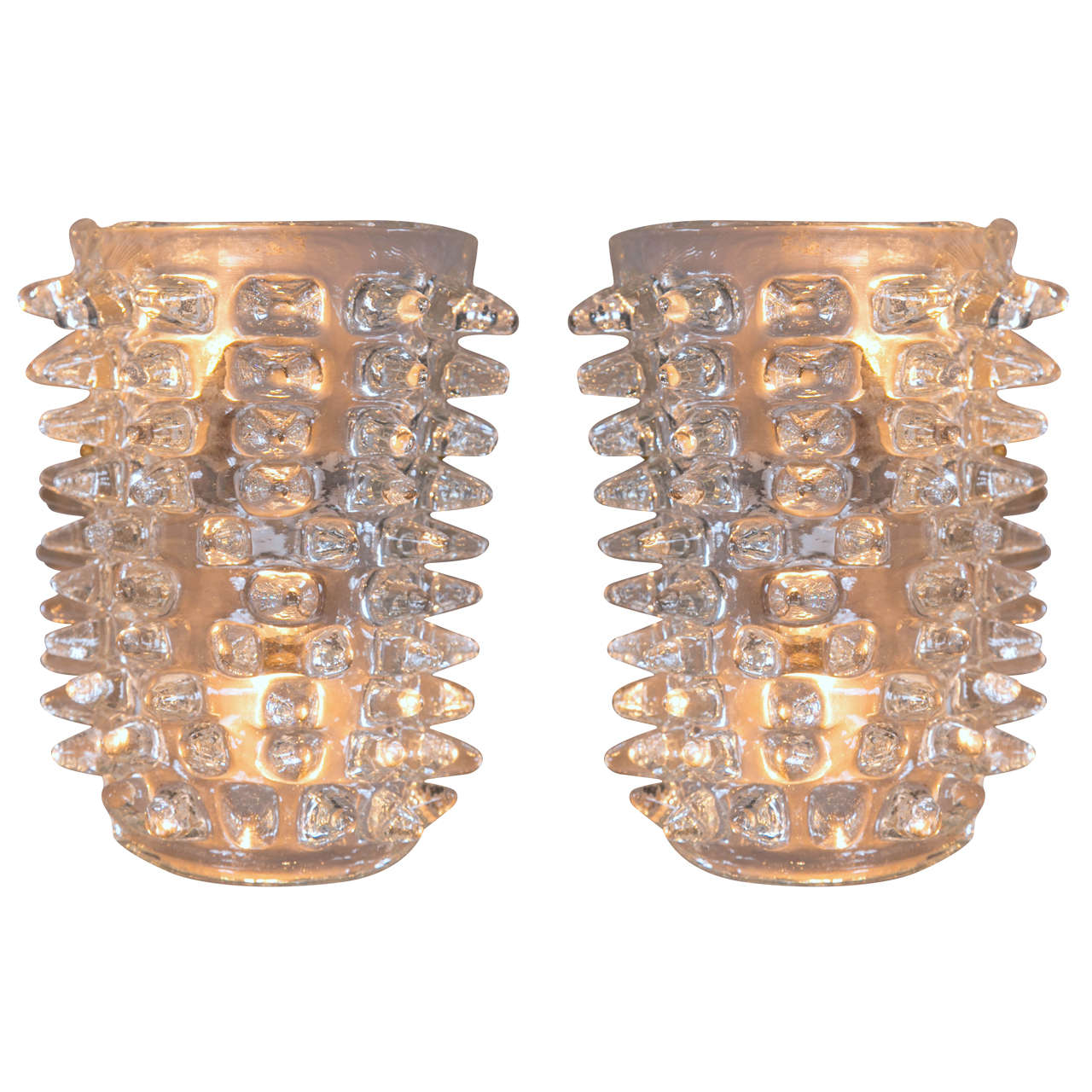 Pair of Italian Murano Glass Sconces