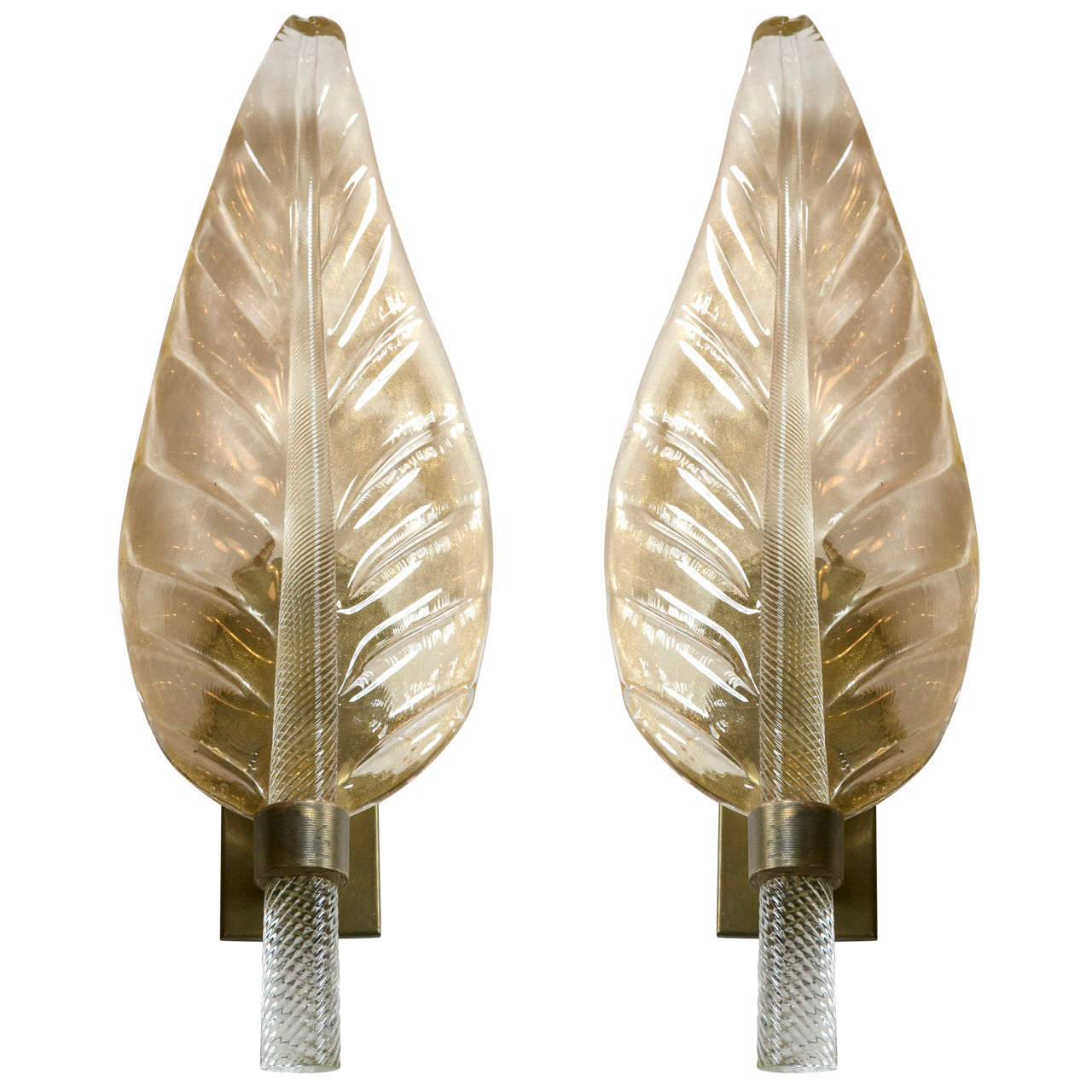 Pair of Murano Glass Sconces by Zanetti