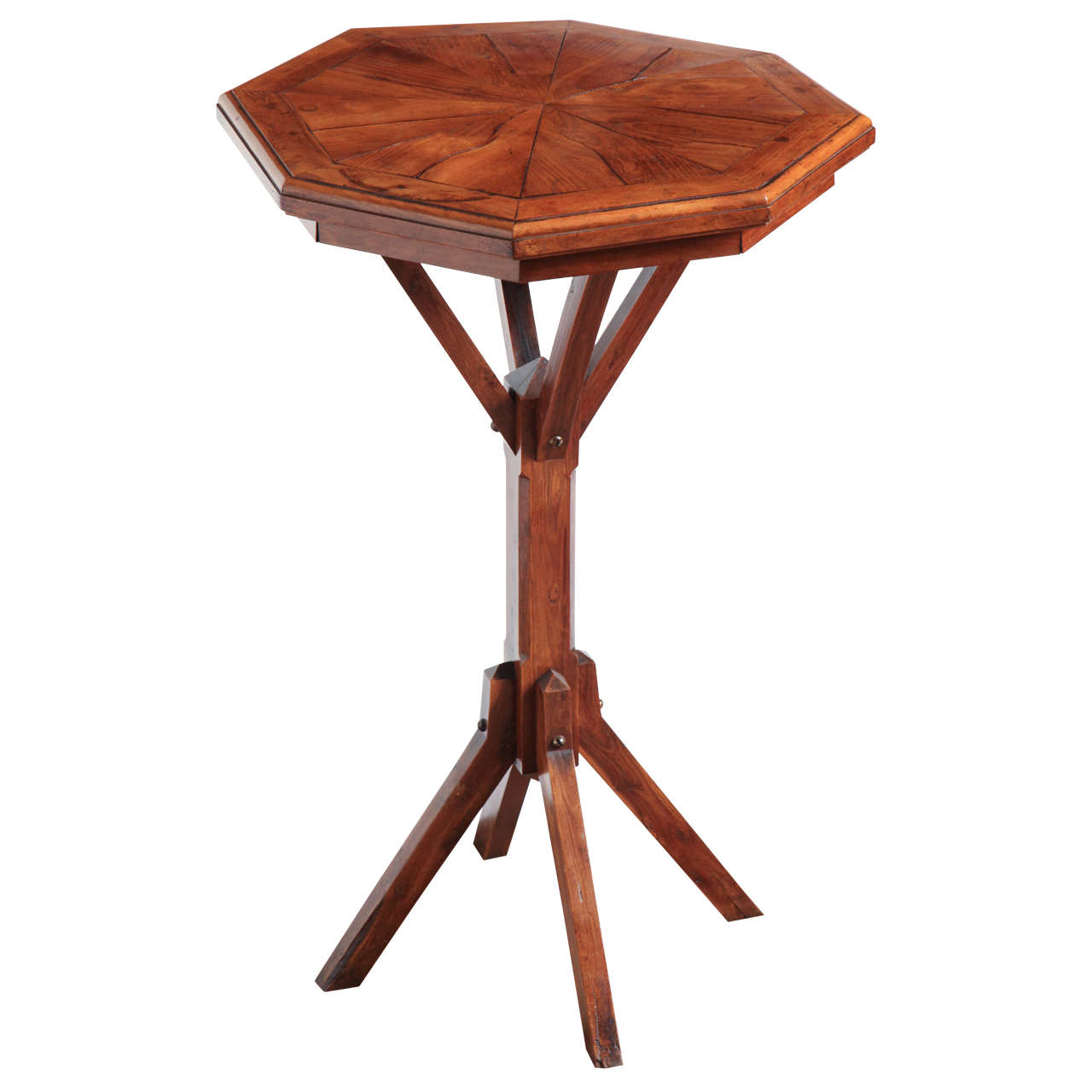 Late 19th Century Octagonal Fruitwood Table