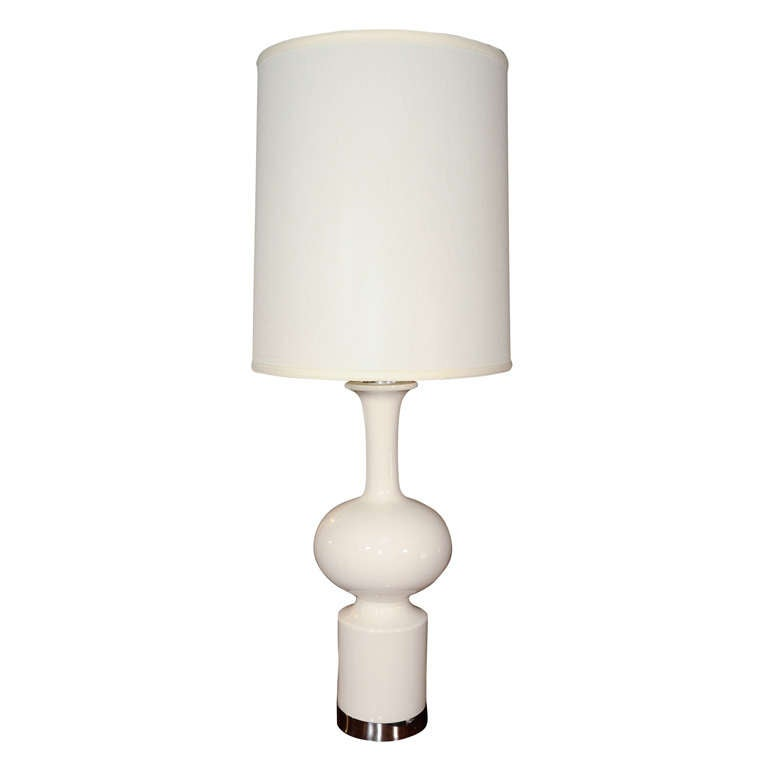 this modernist white ceramic table lamp is no longer available. Black Bedroom Furniture Sets. Home Design Ideas