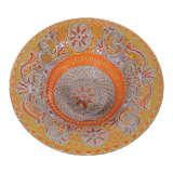 Higgins Art Glass Violet & Orange Bowl