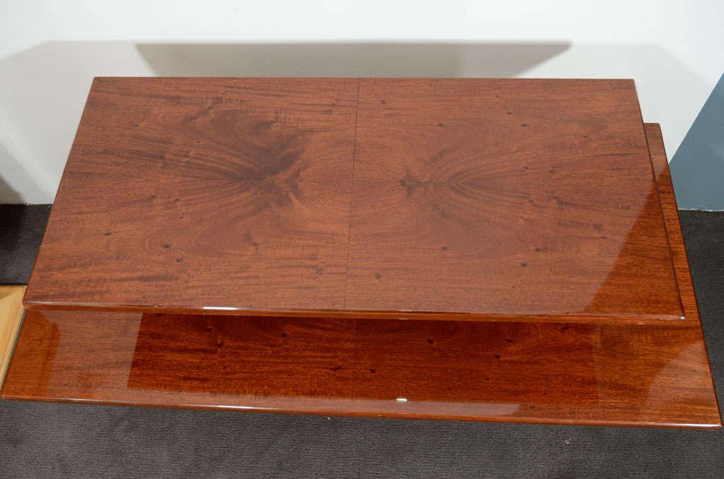 Jules Leleu, Mahogany Side Table, France, circa 1930 4