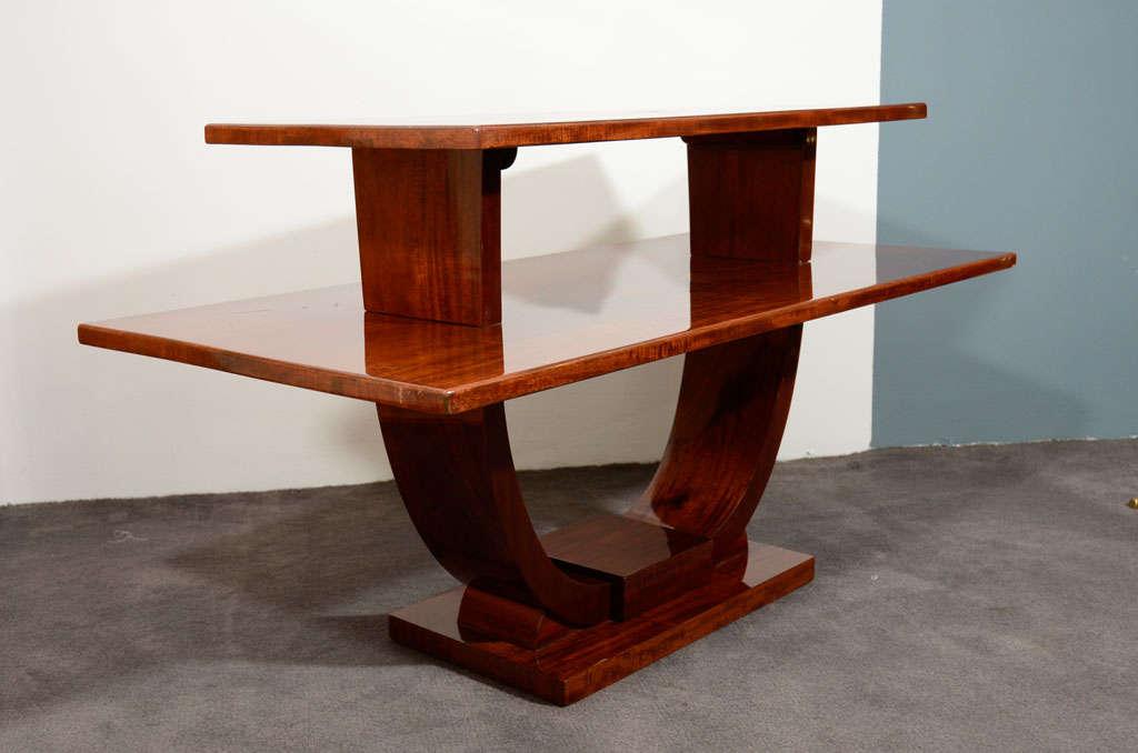 Jules Leleu, Mahogany Side Table, France, circa 1930 5
