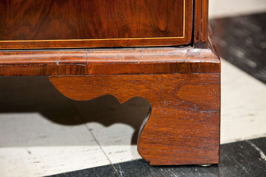 Veneer English Walnut Slant Front Bureau/Desk with String Inlay For Sale