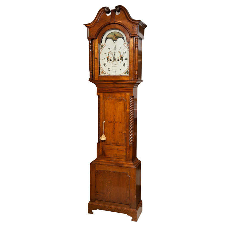Welsh Oak Tall Case Clock