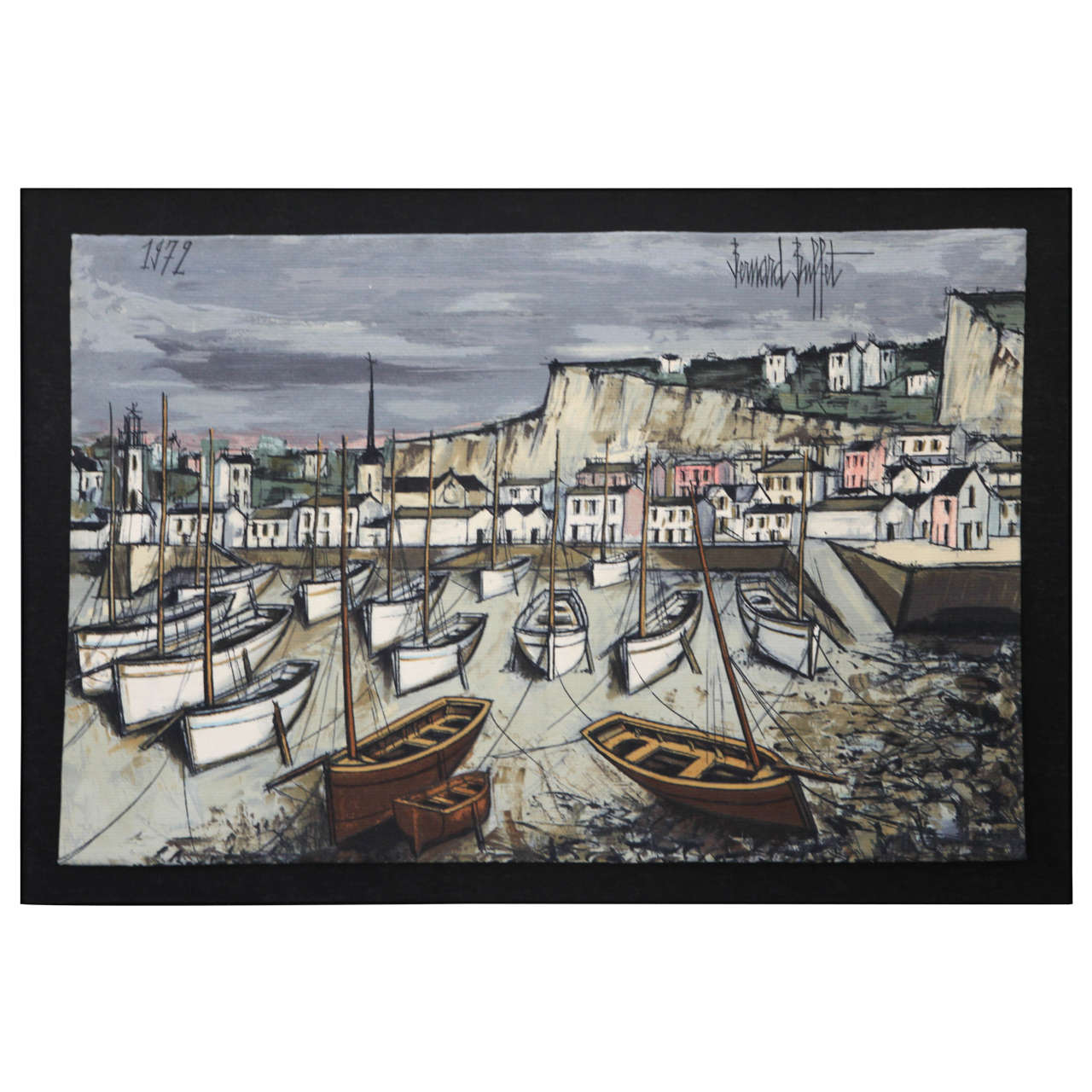 Fine The Harbor At Low Tide By Bernard Buffet Download Free Architecture Designs Scobabritishbridgeorg