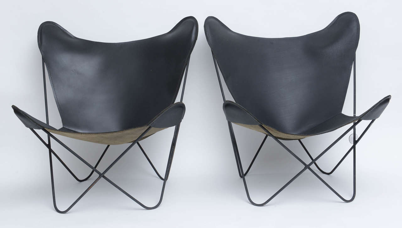 Butterfly chair original - Original Butterfly Chairs By Jorge Ferrari Hardoy Argentina 1940s 2
