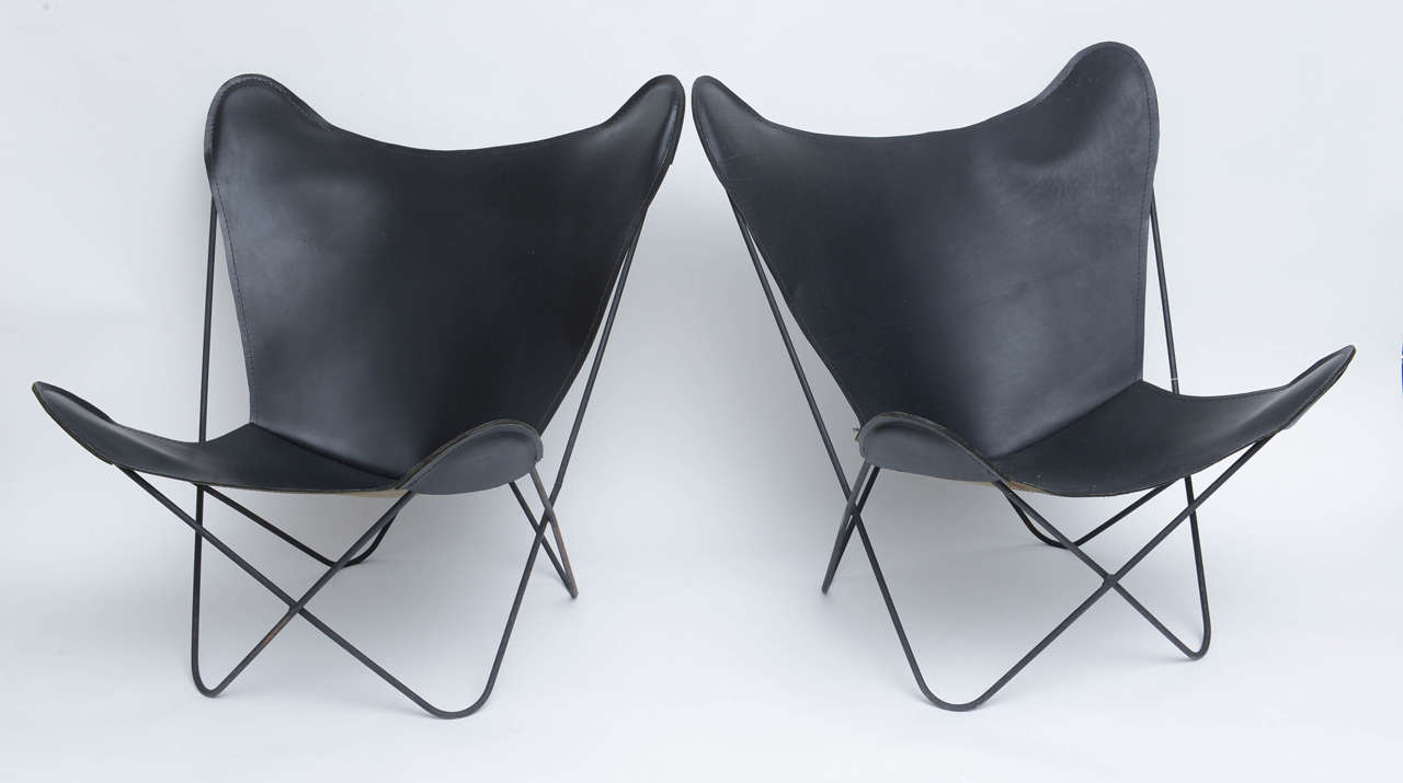 Butterfly chair original - Original Butterfly Chairs By Jorge Ferrari Hardoy Argentina 1940s 3