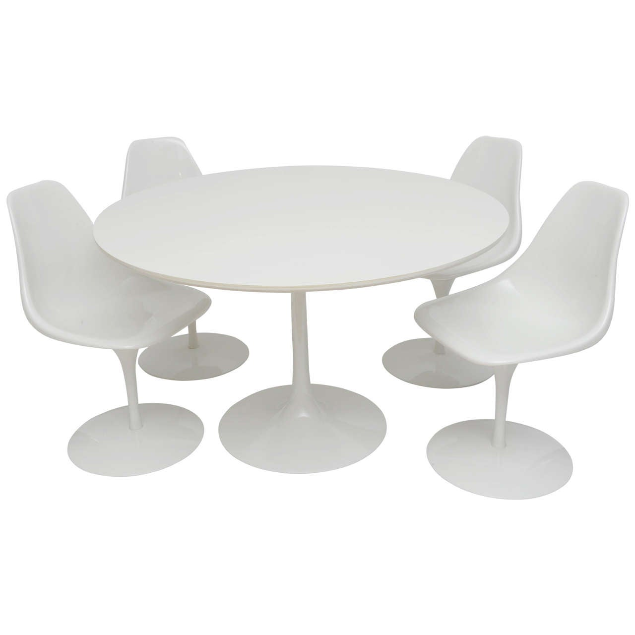 Knoll Tulip Dining Table With Four Chairs At 1stdibs