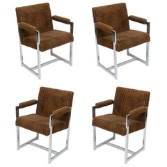 Chrome Chairs, Set of Four, USA, 1960s