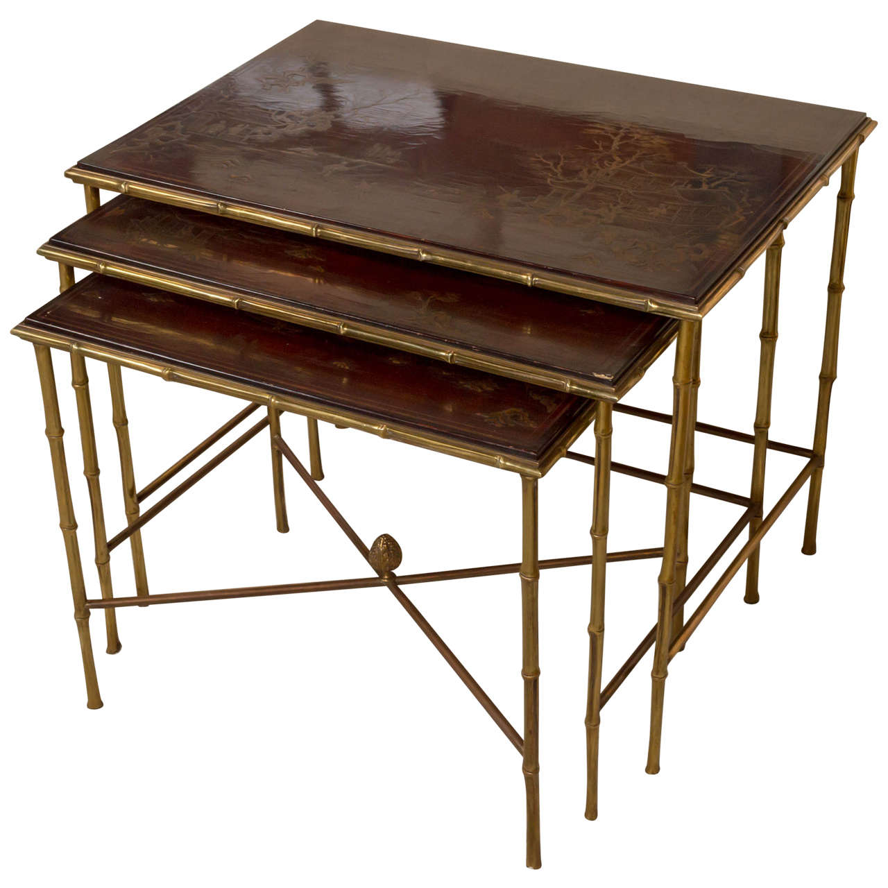 maison bagues nesting tables at 1stdibs. Black Bedroom Furniture Sets. Home Design Ideas