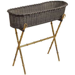 Jacques ADNET - Wicker Planter