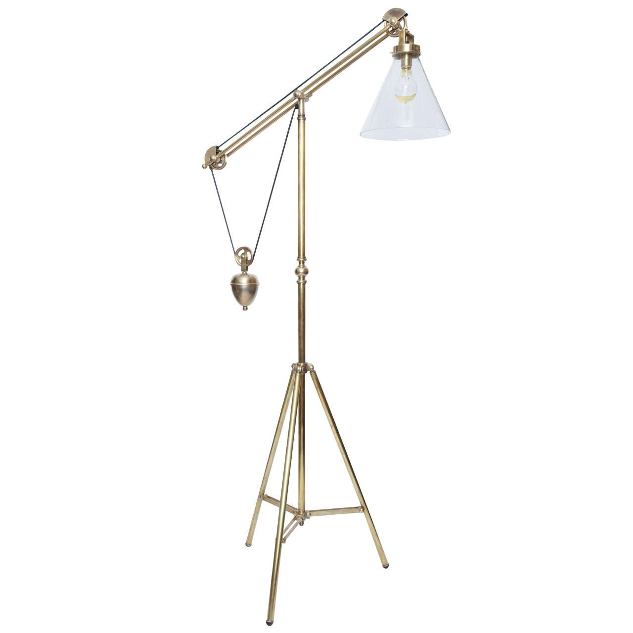 Industrial Modern Articulated Floor Lamp At 1stdibs