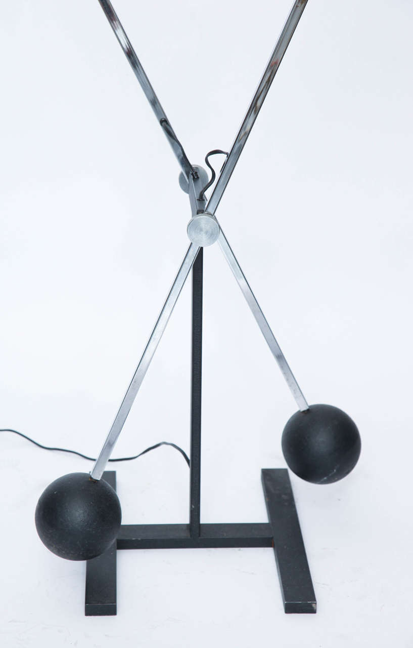 Mid-Century Modern 1970s Articulated Floor Lamp by Robert Sonneman For Sale