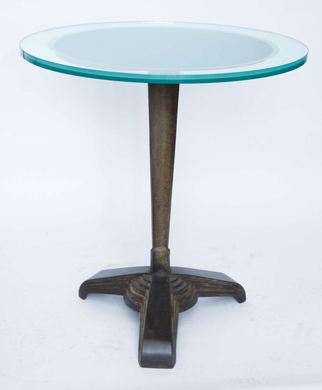 A 1920s American modernist Art Deco Table. Glass top not included
