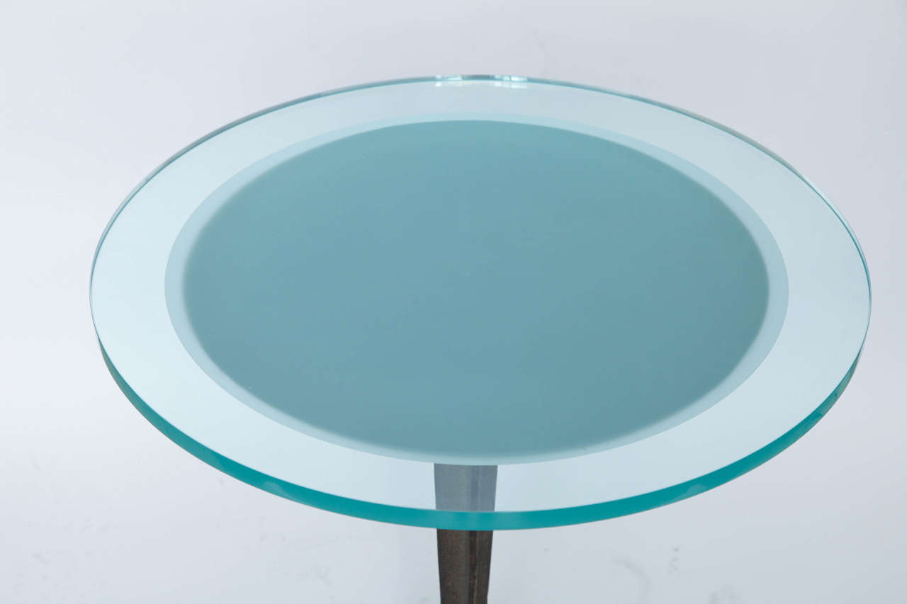 Iron American 1920s Modernist Art Deco Table For Sale
