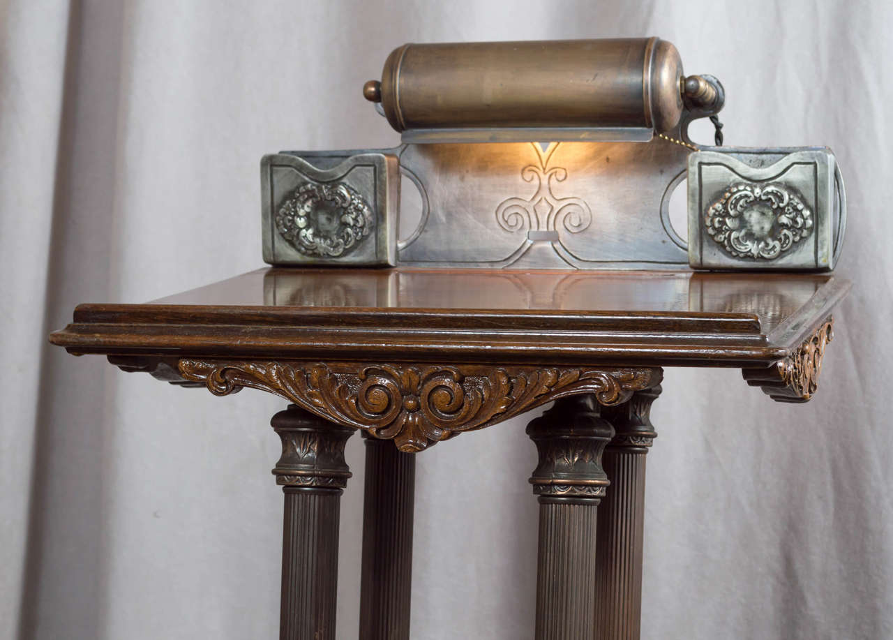 art deco podium lectern with lighted top at 1stdibs. Black Bedroom Furniture Sets. Home Design Ideas