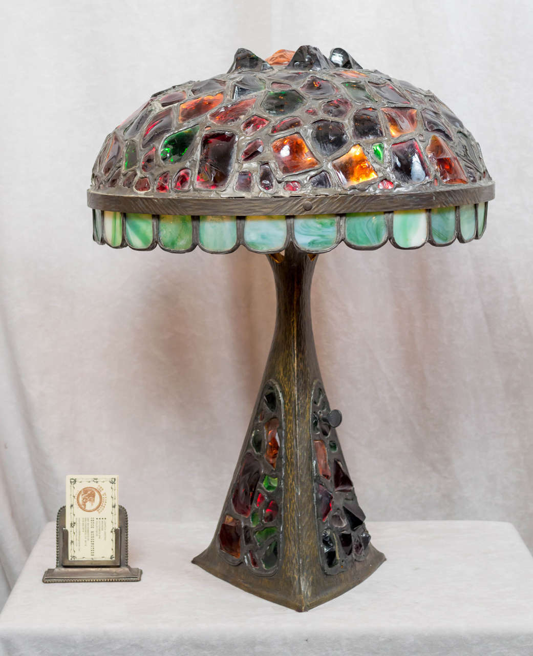 Austrian Bronze And Chunk Jewel Table Lamp At 1stdibs