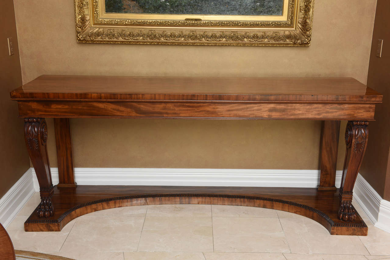 Large Regency Mahogany Console Table 2