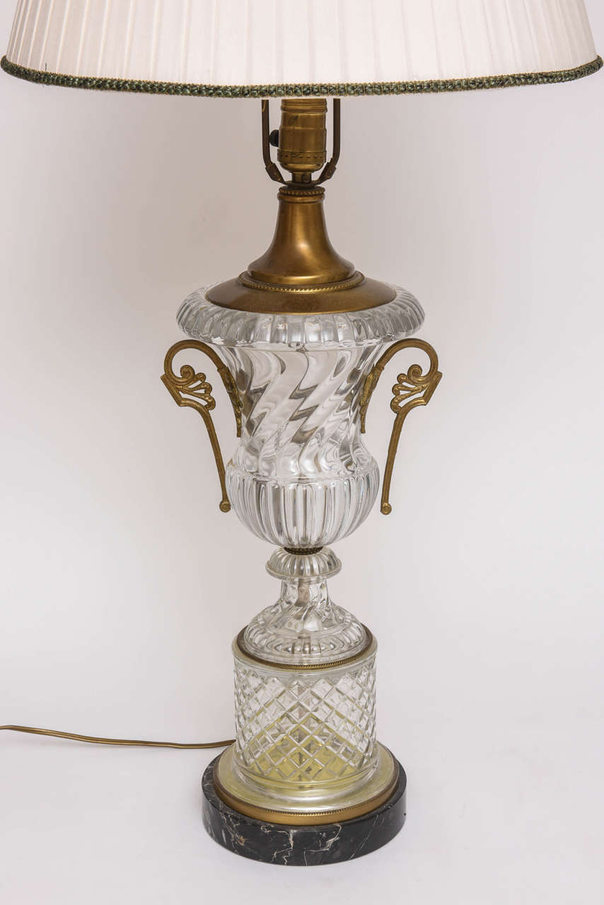 Baccarat Style Cut-Glass Urn Form Lamp by Paul Hansen 3