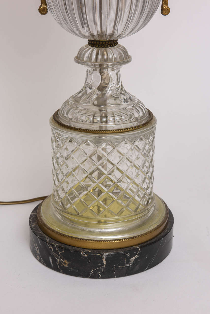 Baccarat Style Cut-Glass Urn Form Lamp by Paul Hansen 4