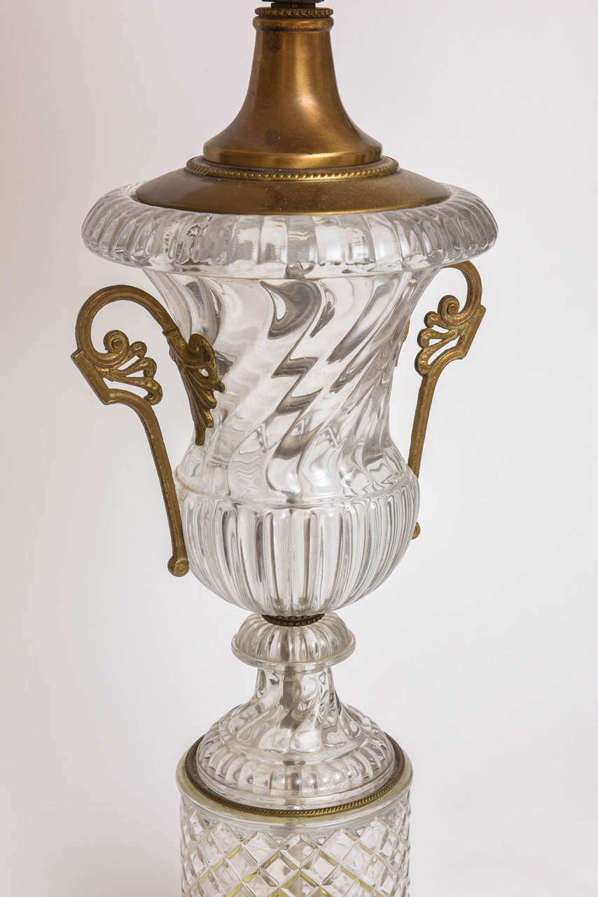 Baccarat Style Cut-Glass Urn Form Lamp by Paul Hansen 5