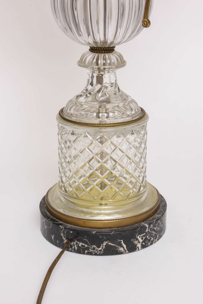 Baccarat Style Cut-Glass Urn Form Lamp by Paul Hansen 7