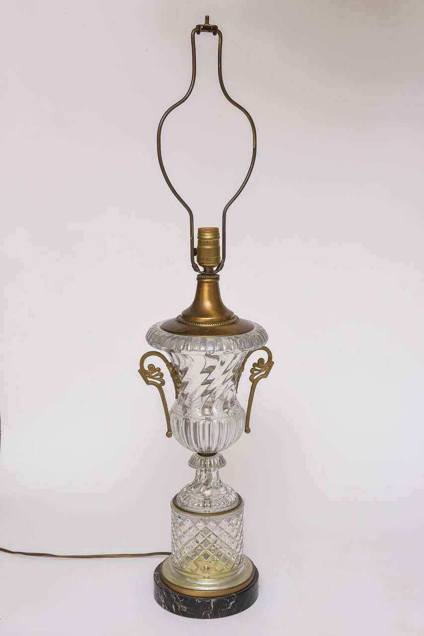 Baccarat Style Cut-Glass Urn Form Lamp by Paul Hansen 9