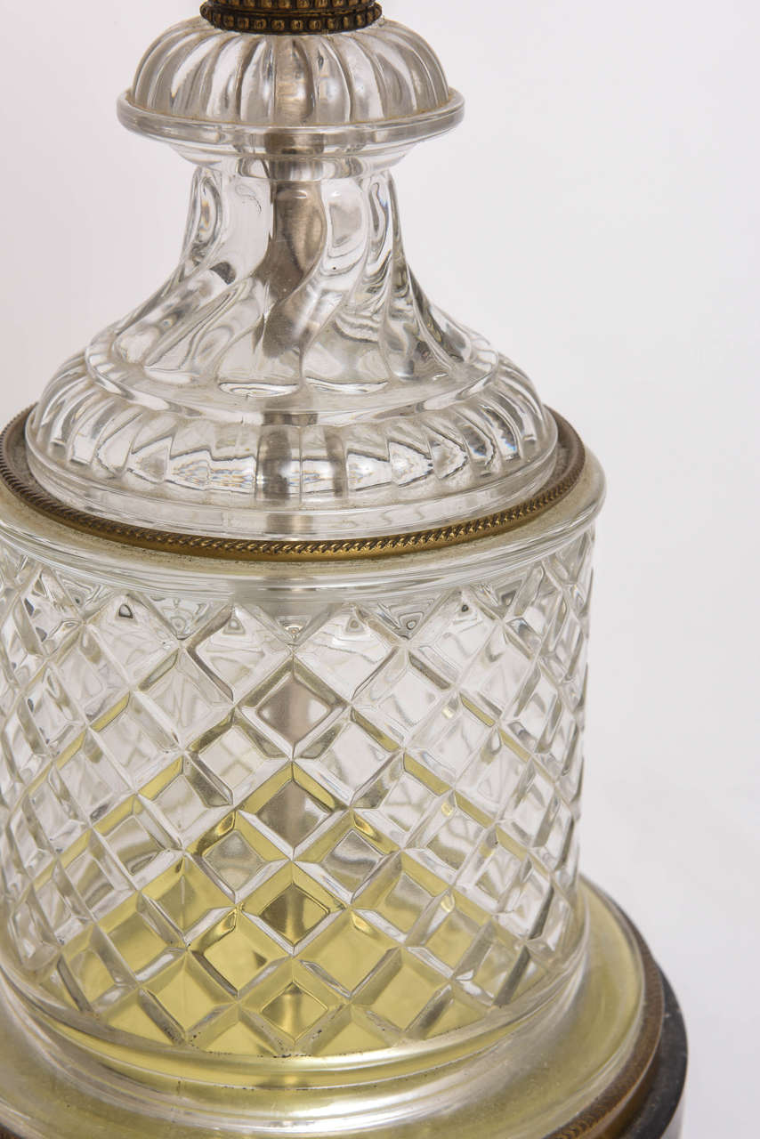 Baccarat Style Cut-Glass Urn Form Lamp by Paul Hansen 10