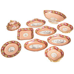 Coalport Cupid Part Dessert Service, 22 Pieces