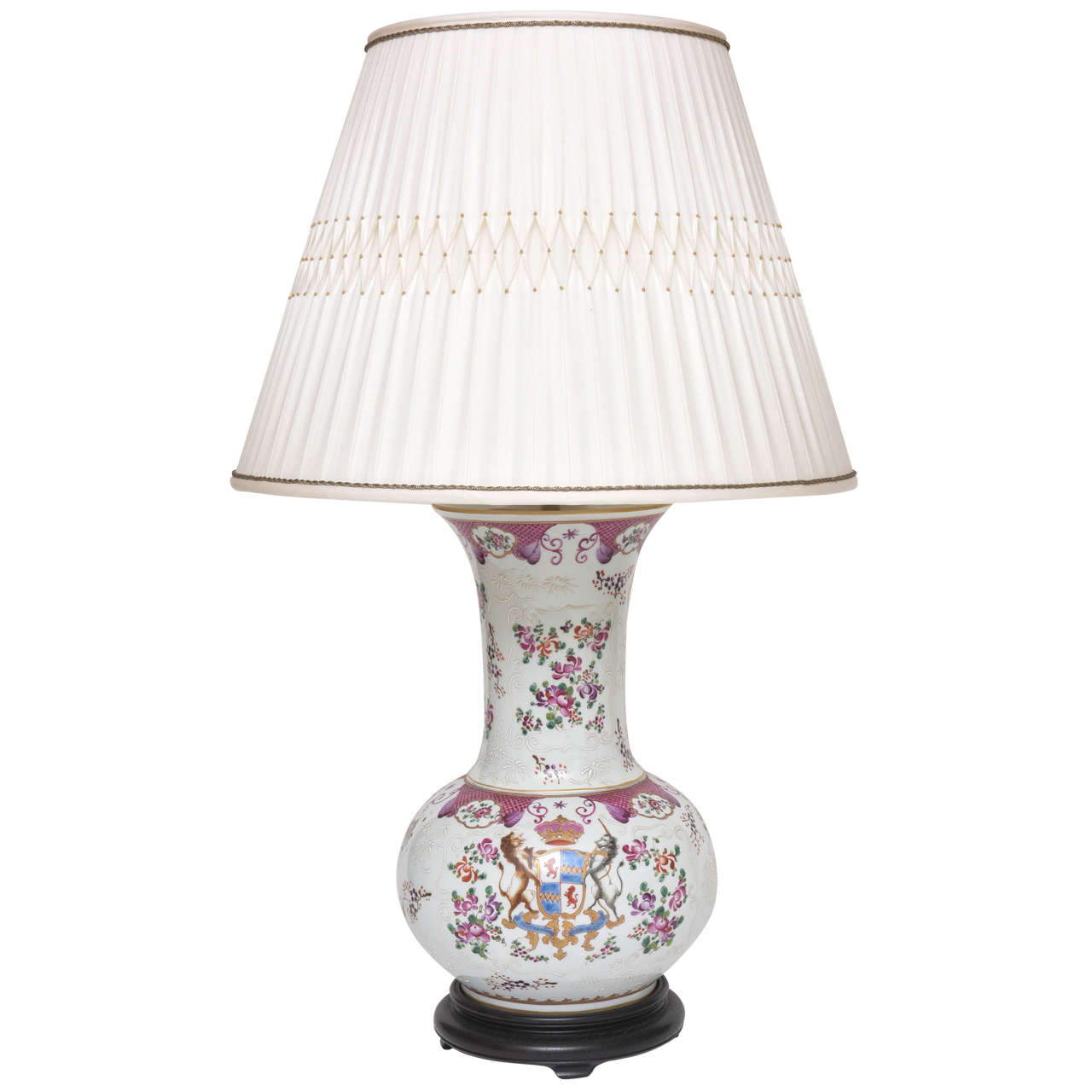 Samson chinese export porcelain armorial vase mounted as a lamp reviewsmspy