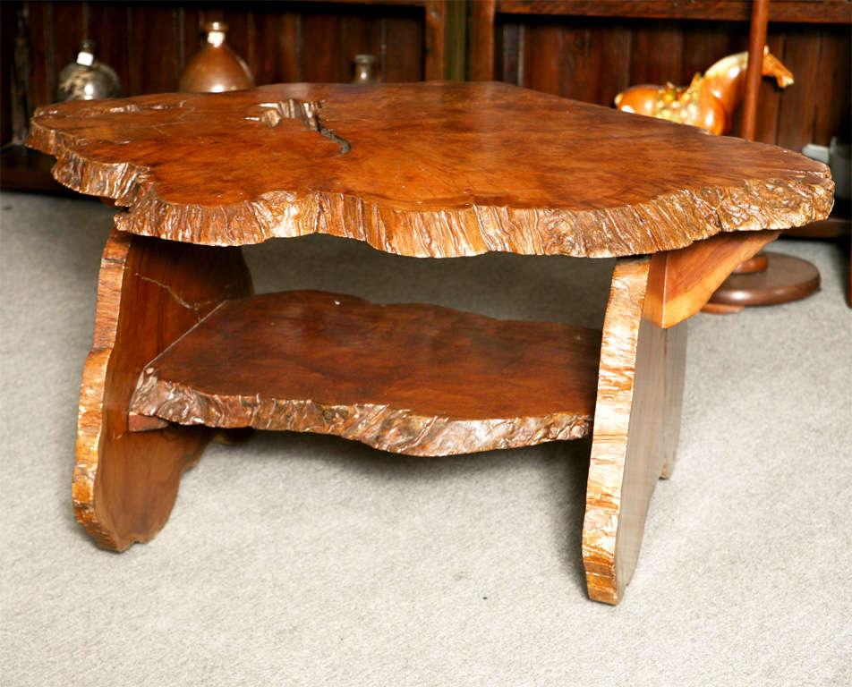 Vintage Teak Natural Form Coffee Table At 1stdibs