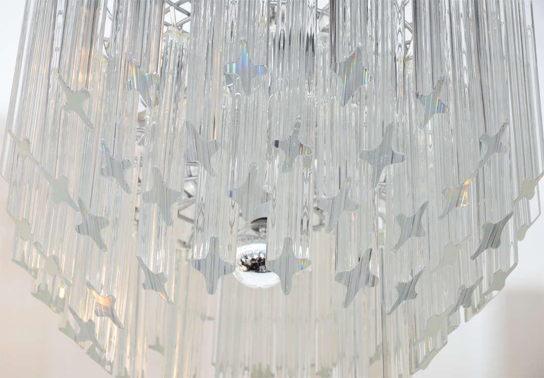 Kamer multi tier crystal prism chandelier with waterfall design at 1stdibs - Deco moderne ouderlijke kamer ...