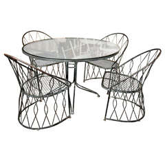 Salterini Round Table and Chairs