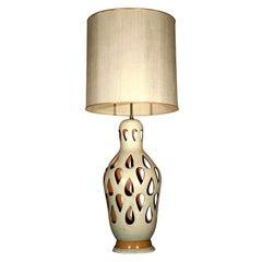 "Large ""Cut Out"" Ceramic Lamp"